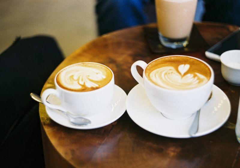 perfect lattes sharing coffee